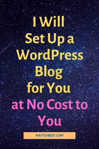 Install & Set Up a WordPress Blog for You for Free