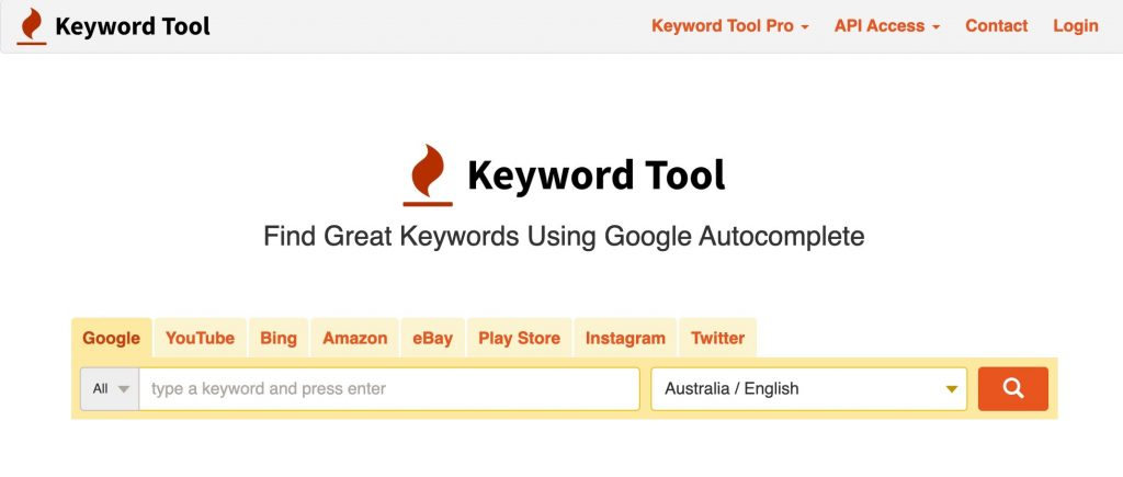 Keyword tool for Amazon keyword reseach