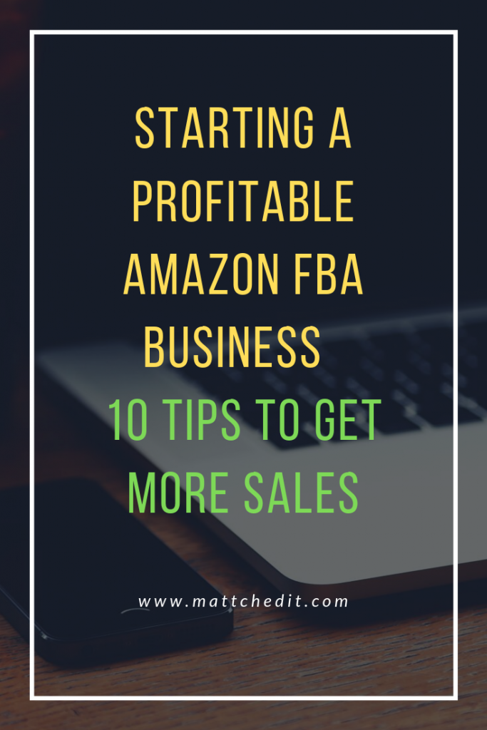 Starting a Profitable Amazon FBA Business