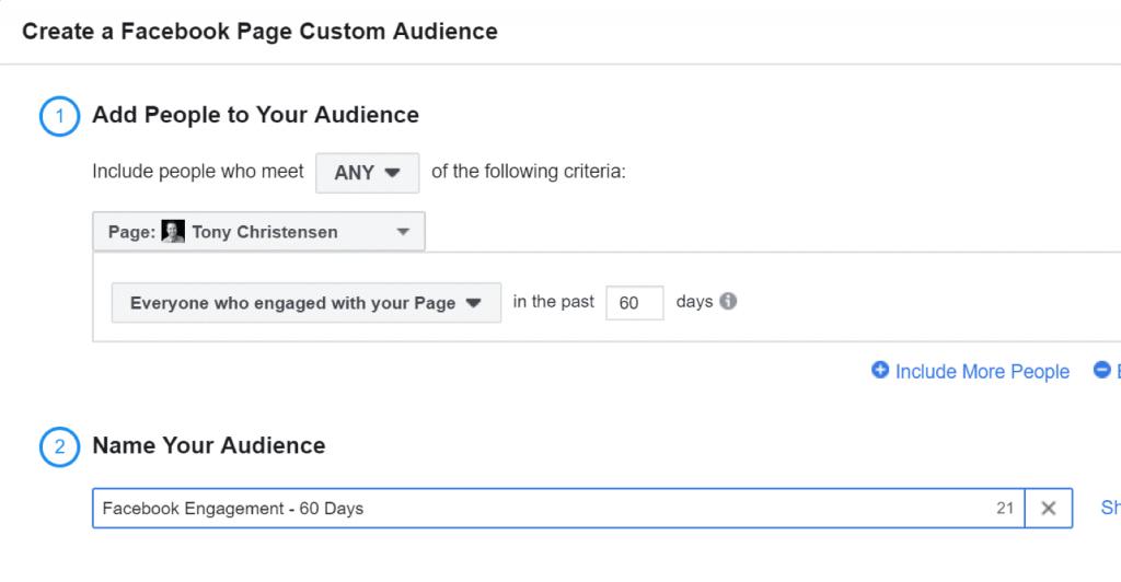 Create a Facebook Page Custom Audience